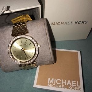 Gold tone Michael Kors stainless steel watch